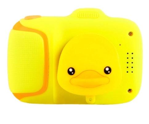 Детский цифровой мини фотоаппарат Cartoon Camera, уточка с милым дизайном и простотой в использовании для ребенка.