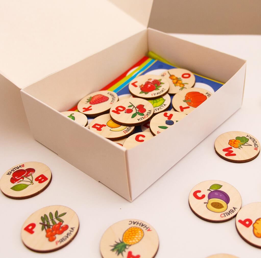 Детское Лото - Овощи фрукты ягоды