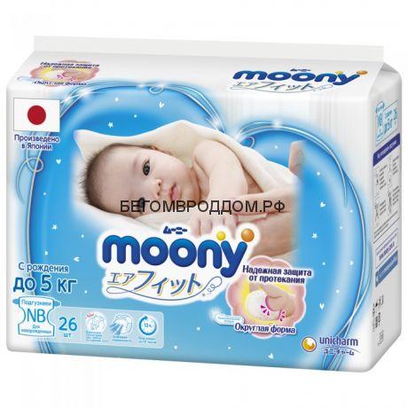 Подгузник MOONY NB до 5 кг, 1 шт. / MOONY
