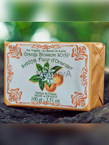 Мыло Le Blanc в бумажной упаковке Апельсиновый цвет