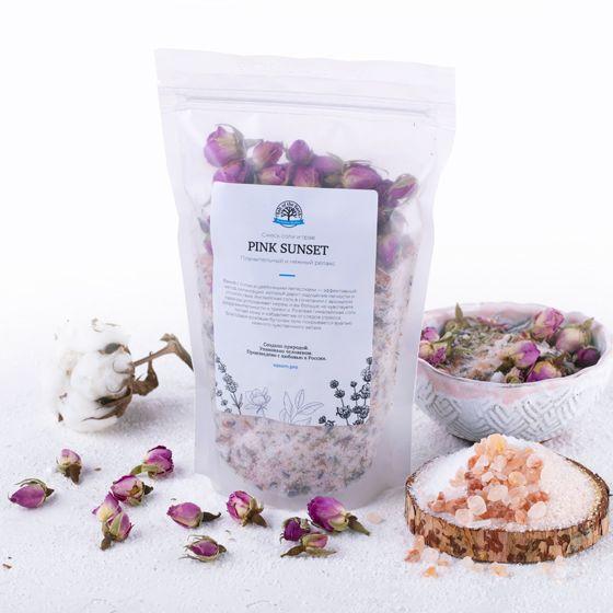 Микс для ванной с цветками лаванды и чайной розы «PINK SUNSET» 400 г
