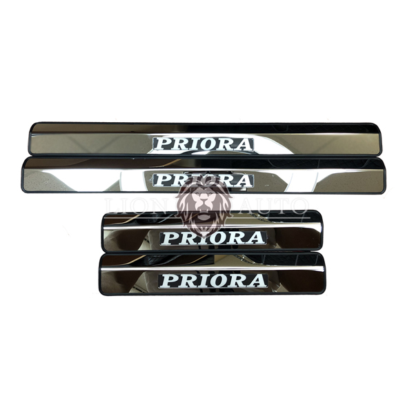 Накладки на пороги Lada Priora (с подсветкой)