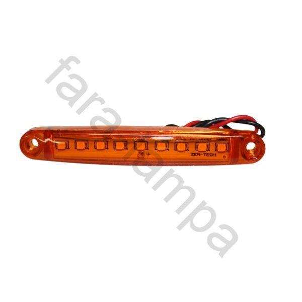 Габарит светодиодный контурный 100мм. оранжевый