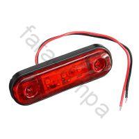 Габарит выпуклый контурный LED красный