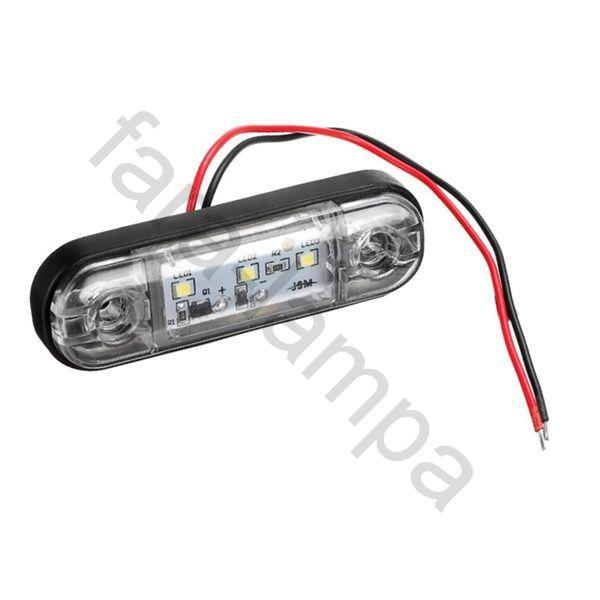 Габарит выпуклый контурный LED белый