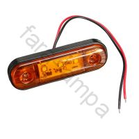 Габарит выпуклый контурный LED оранжевый