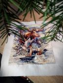 "Digital cross stitch pattern ""Master of taiga""."