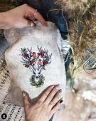 "Cross stitch pattern ""Forest keeper""."