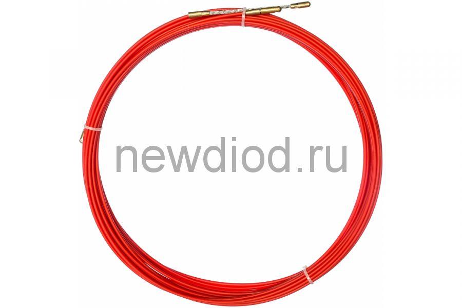 Протяжка кабельная REXANT (мини УЗК в бухте), стеклопруток, d=3,5 мм 15 м, красная