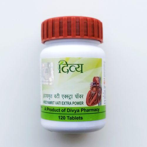 Хридайамрит вати Экстра Пауэр | Hridyamrit Vati Extra Power | 60, 120 таб. |  Divya Pharmacy (Patanjali)