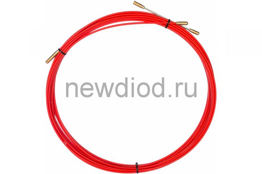 Протяжка кабельная REXANT (мини УЗК в бухте), стеклопруток, d=3,5 мм 10 м, красная