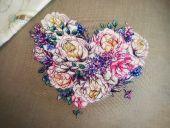"""""""Сердце весны"""". Схема для вышивания крестиком. Отшив."""