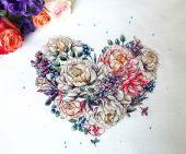 """Heart Of Spring"". Digital cross stitch pattern."