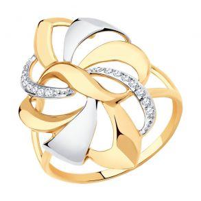 Кольцо из золота с фианитами 018671 SOKOLOV