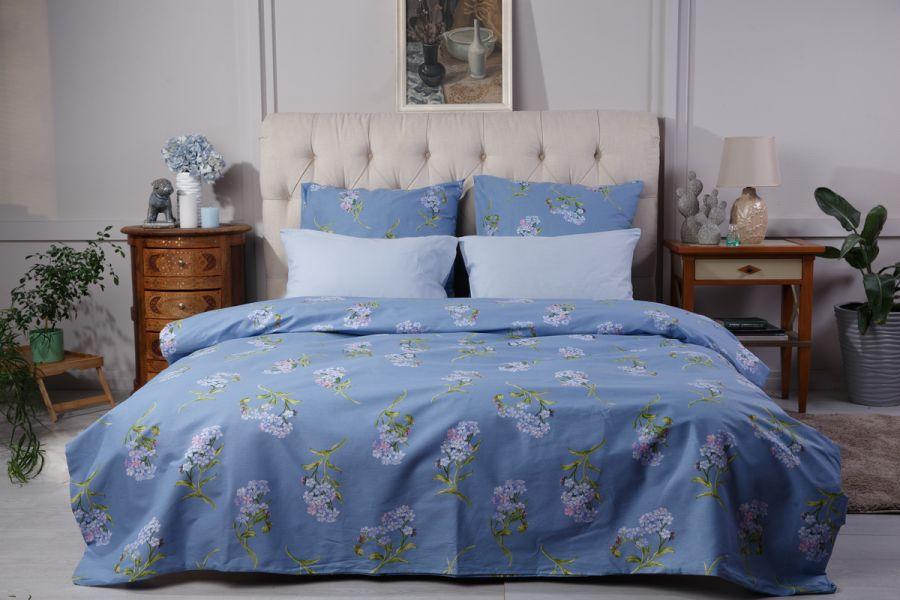 Поплин [в ассортименте] Незабудки (простыня на резинке) постельное белье