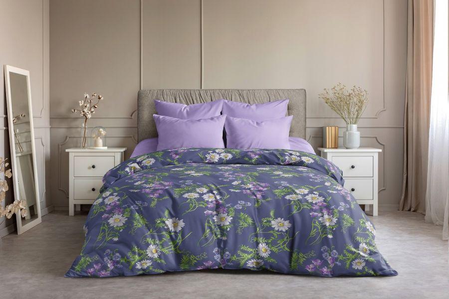 Поплин [в ассортименте] Ромашки  (простыня на резинке) постельное белье
