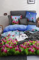Бязь 1.5 спальный [ассорти] PAVLine Тюльпаны постельное белье
