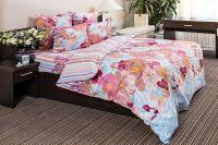 Бязь 1.5 спальный [голубой] Акварель постельное белье