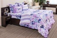 Бязь 1.5 спальный [фиолетовый] Акварель постельное белье