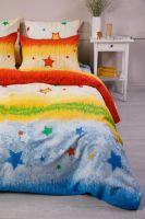 Бязь 2-х спальный [желтый] Звездочки постельное белье