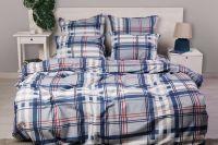 Бязь 2-х спальный с евро [в ассортименте] Клетка постельное белье