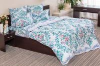 Бязь семейный [голубой] Нежная роза постельное белье