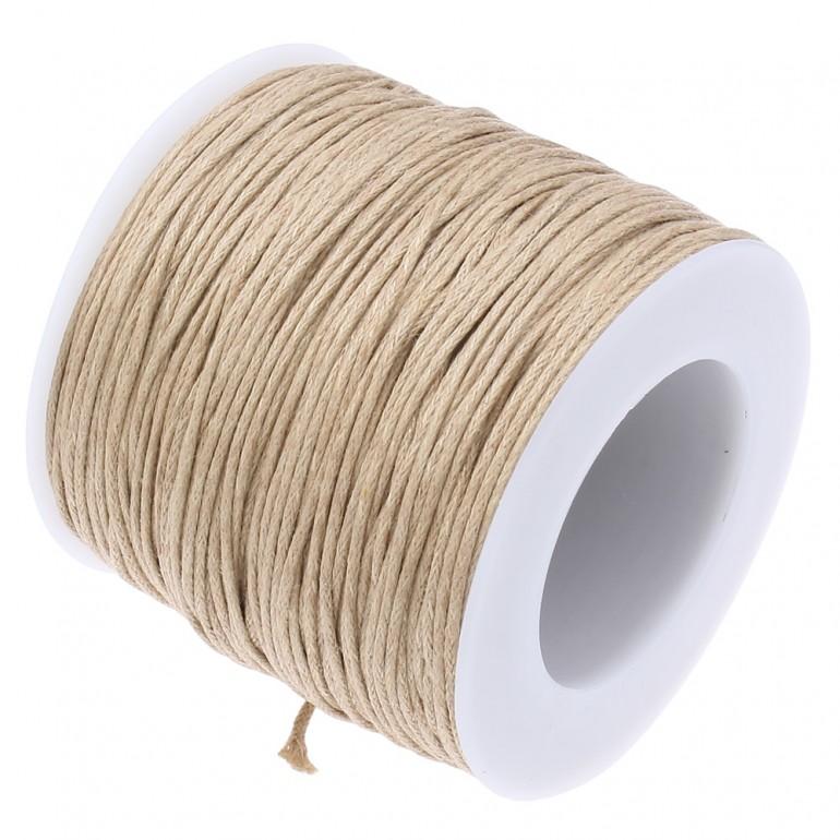 Шнур хлопковый вощеный 1 мм (L3)