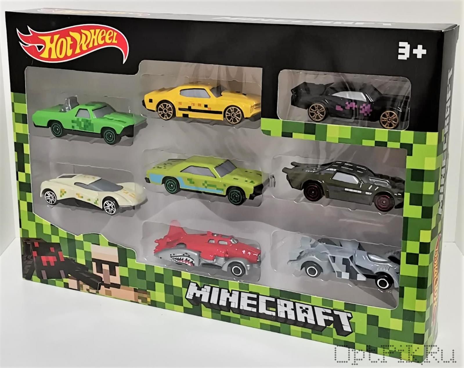 Набор Hot Wheels Minecraft (Хот Вилс Майнкрафт) 8 машинок