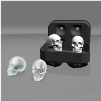 """Силиконовая форма для льда 3D Ice Ball Cube Tray """"Череп"""""""