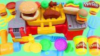 "Пластилин Плэй-До (Play-doh) ""Барбекю,хот-дог,гамбургер"""