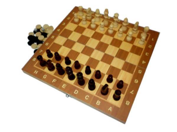 Набор 3в1 (шашки, шахматы, нарды) W7724