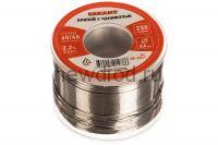 Припой с канифолью REXANT, 250 г, Ø0.6 мм, (олово 60%, свинец 40%), катушка