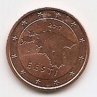 5 евроцентов Эстония 2017