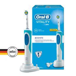 Электрическая зубная щетка Oral-B Vitality 3D White, белый/голубой