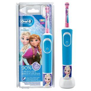 Электрическая зубная щетка Oral-B Vitality Kids Frozen D100.413.2K, синий