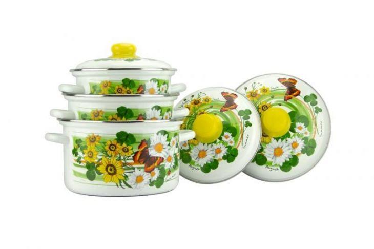 Набор посуды Магнитогорская эмаль Лето