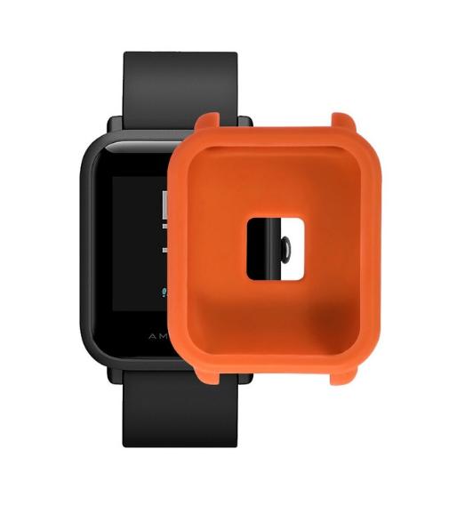 Защитный бампер для Xiaomi Amazfit Bip ( Оранжевый )