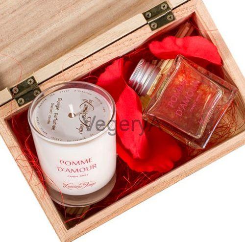 Подарочный набор деревянный сундучок (ЯБЛОКО ЛЮБВИ) LUMIERES