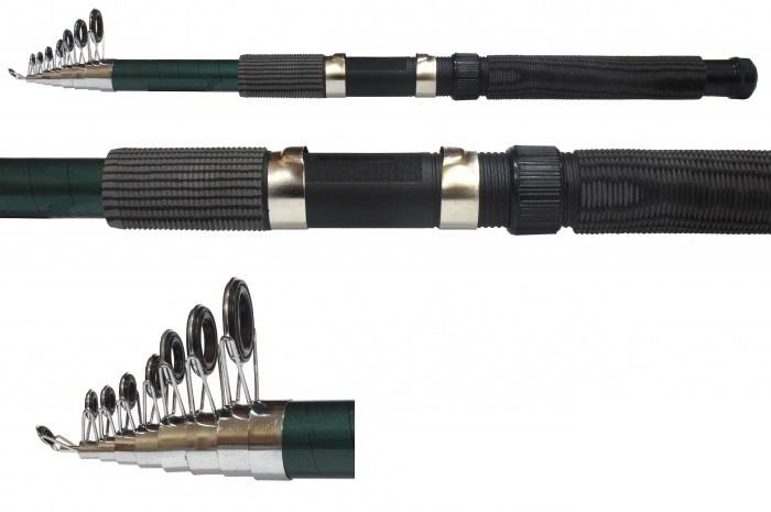 Спиннинг теле. Mifine Power Black 4.5 м / 30-60г / кольца-SIC / арт 204-450