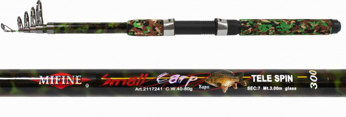 Спиннинг теле. Mifine Small Carp 3.6м / 40-80г / Камуфляж /кольца-SIC / арт 202-3608