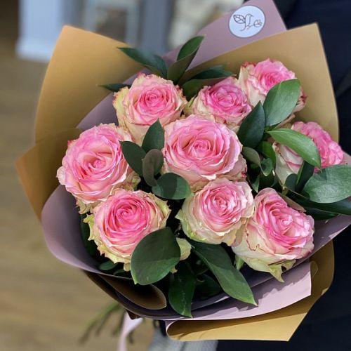 Букет из 9 роз сорта Эсперанс