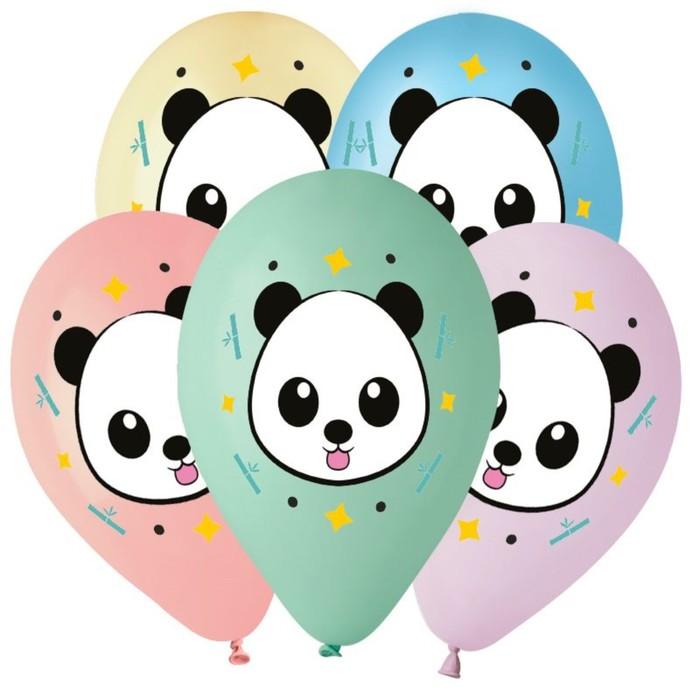 """Шар латексный 14"""" «Панда», 5 цветов,"""
