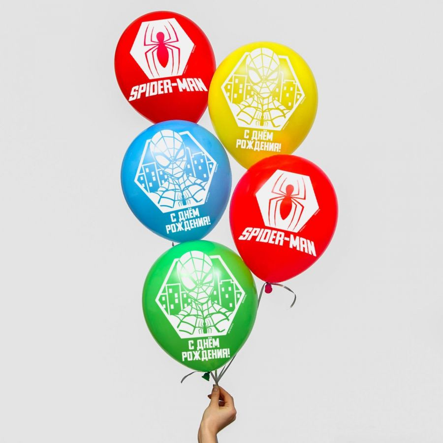 "Воздушные шары, набор ""Spider Man, Happy Birthday"", Marvel"