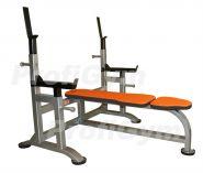 Скамья-стойка для жима лежа со страховочными упорами усиленная Profi Gym 2СК-0040-H