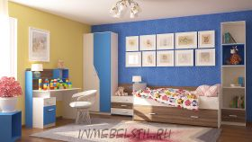 Детская Скейт-5 синий