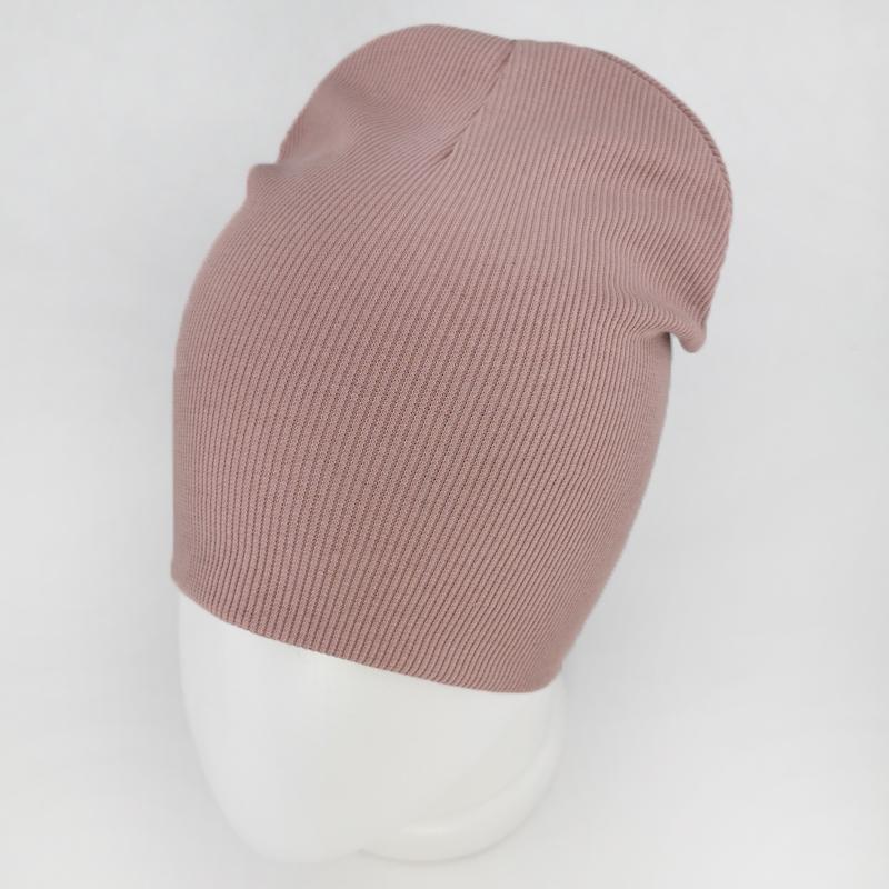 вд1617-83 Шапка кашкорсе удлиненка BASIC пудра