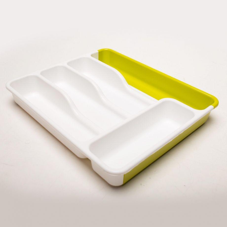 Универсальный раздвижной лоток для хранения столовых приборов