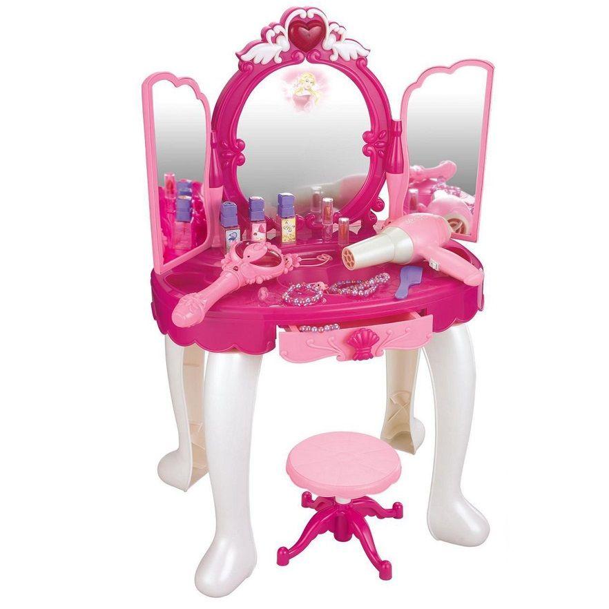 008-18 Детский туалетный столик трюмо со стульчиком с MP3, светом, музыкой и волшебной палочкой