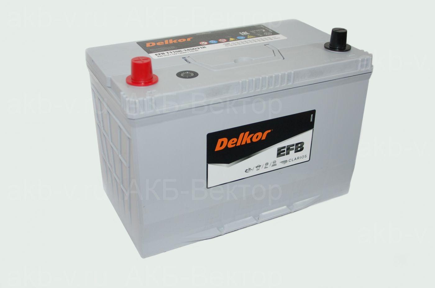 Delkor EFB 145D31L / 145D31R 90Ач (820CCA)
