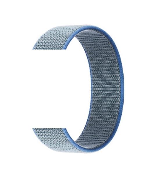 Тканевый ремешок (Липучка) для Xiaomi Amazfit Bip 20мм ( Синий )